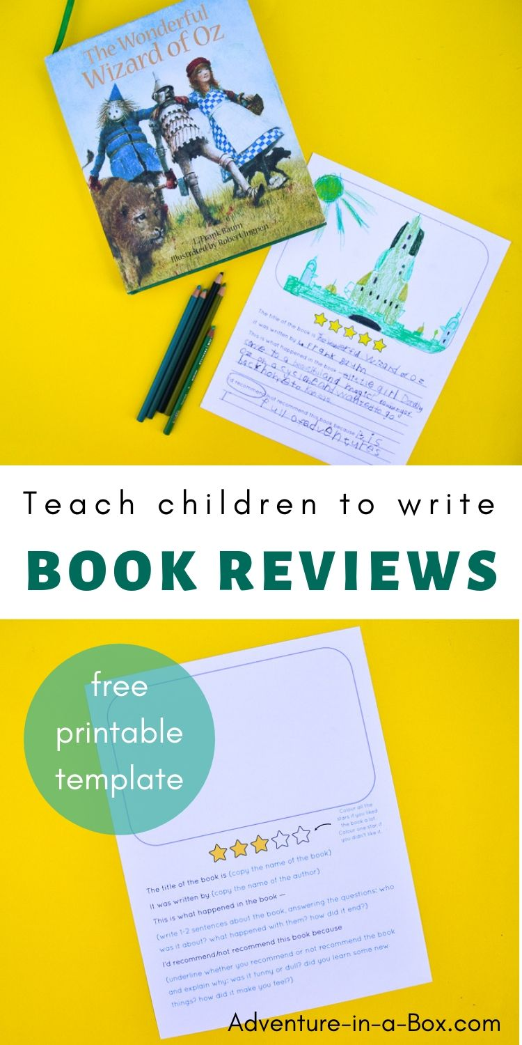 Wondering how to teach children to write book reviews? With this free printable template, anyone can write one!