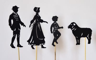 Nursery Rhymes with Printable Shadow Puppets