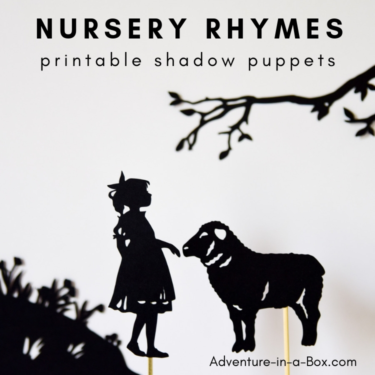 graphic about Printable Nursery Rhymes named Nursery Rhymes Printable Shadow Puppets