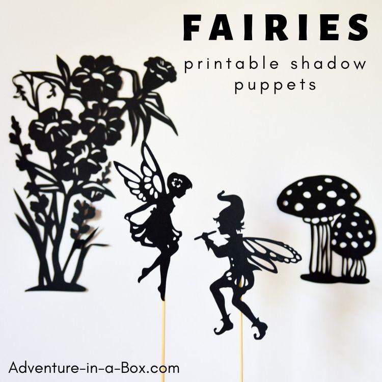 Make fairy puppets with our printable shadow puppet templates and let children stage a shadow puppet play, based on myths and folk stories about fairies!