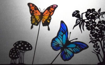How to Make Colourful Shadow Puppets of Butterflies