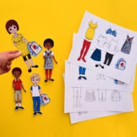 Back to School Paper Dolls