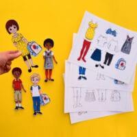 Back to School Paper Dolls