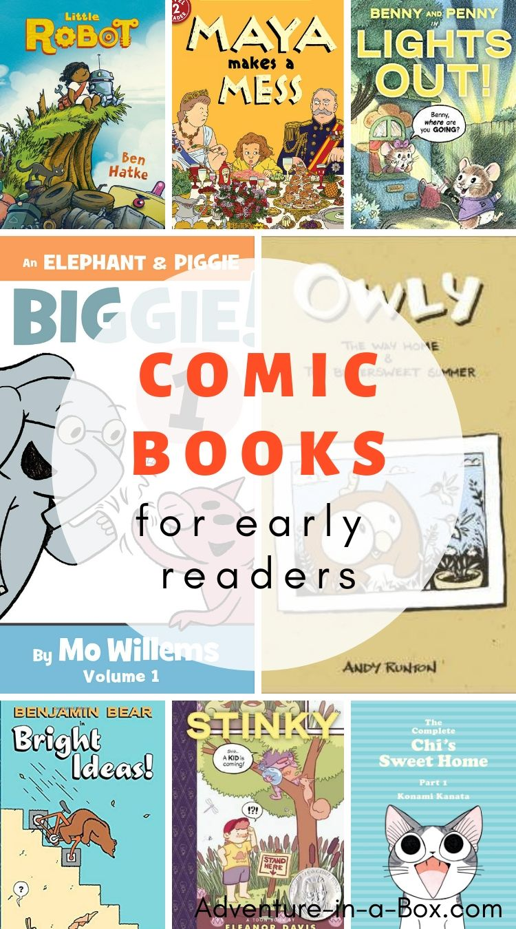 Early reader comic books give kids who are just beginning to read an opportunity to step away from workbook texts and enjoy the stories!