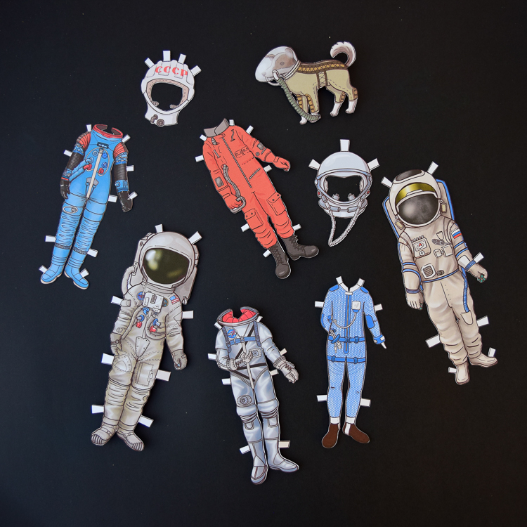 Astronaut dress-up dolls