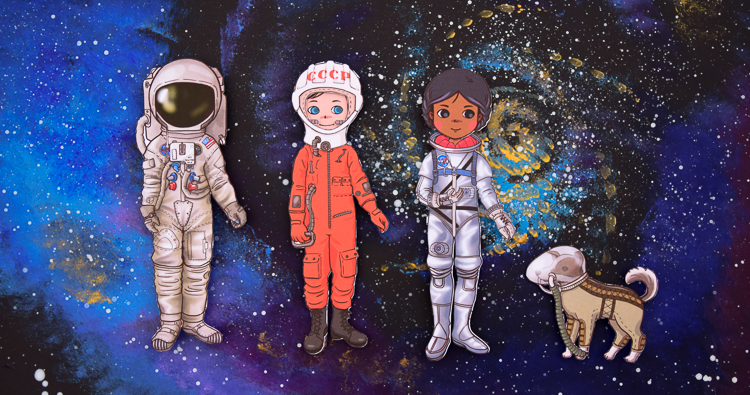 The History of Space Suits with Astronaut Paper Dolls