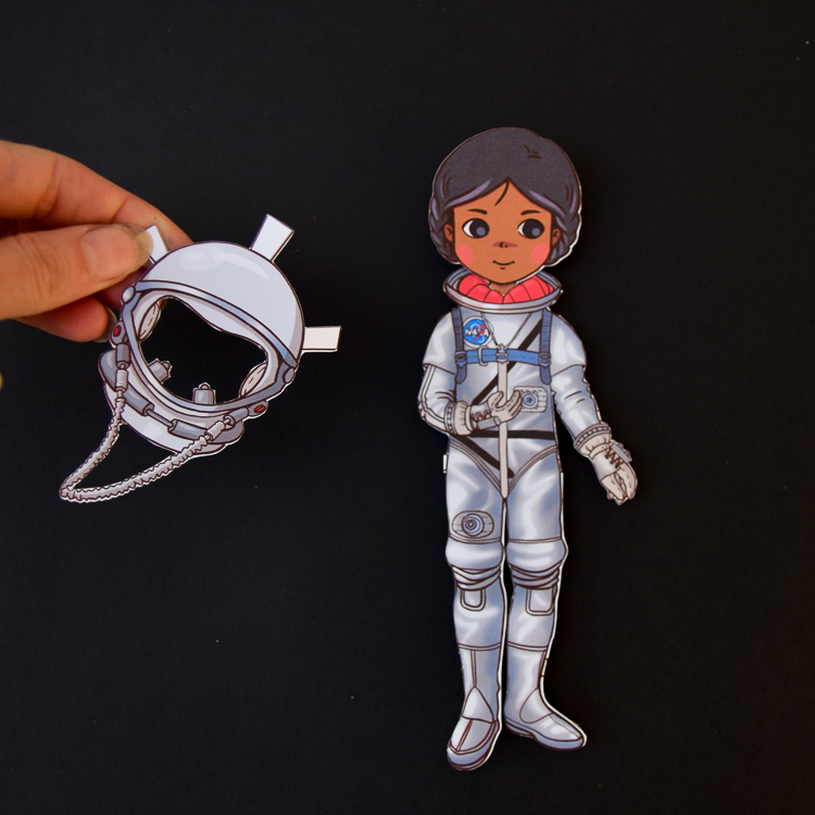 Paper doll with Mercury space suit