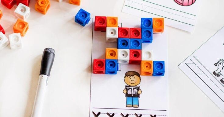 Snap Cubes Alphabet