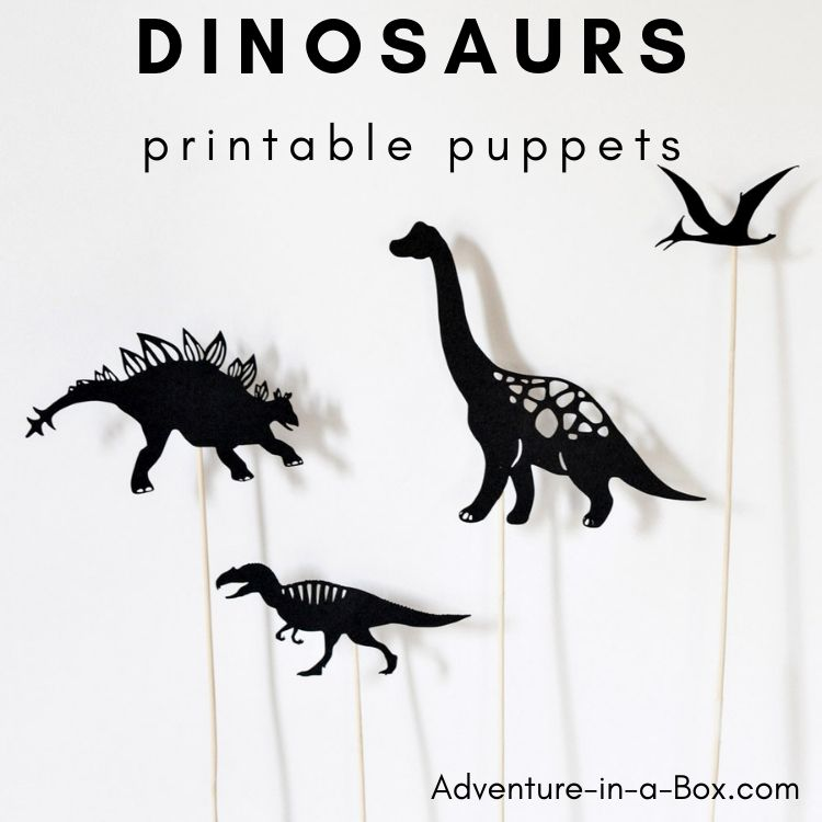 image regarding Printable Dinosaur referred to as Dinosaurs: Printable Shadow Puppets