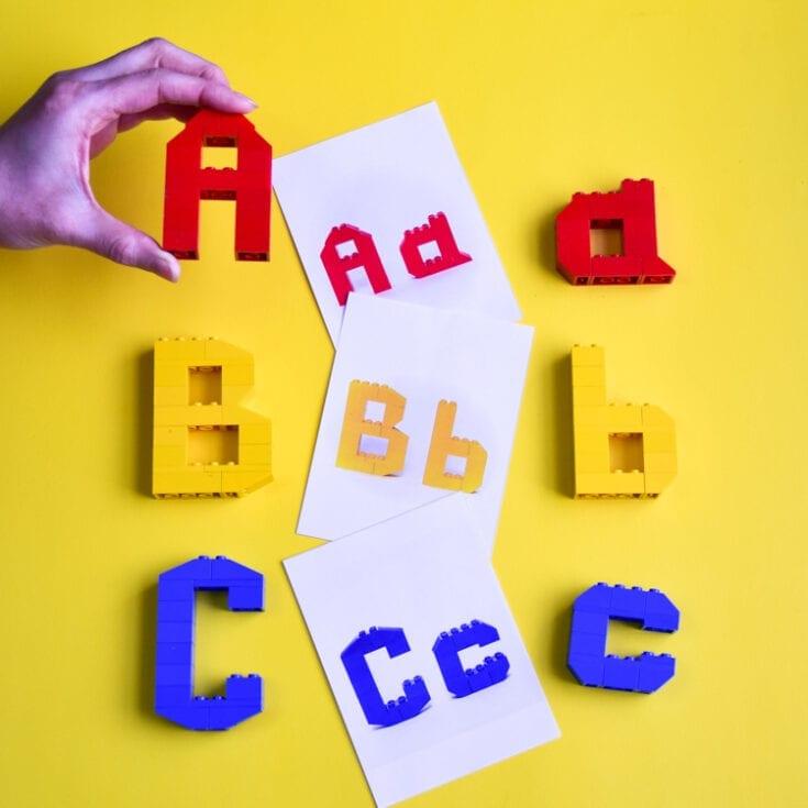 3D LEGO Alphabet Mats