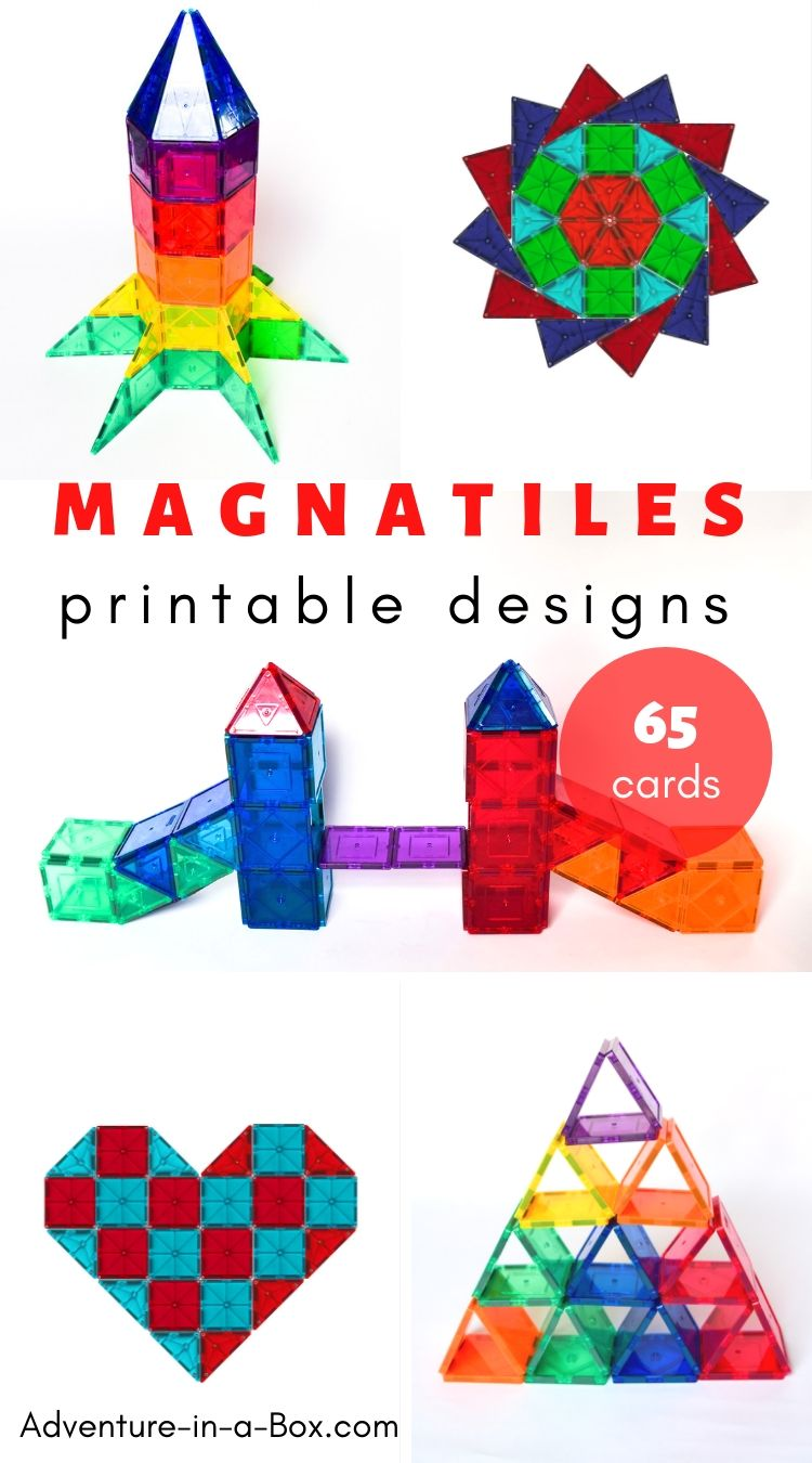 65 Magna Tiles Design Ideas with Printable Cards for Inspiration