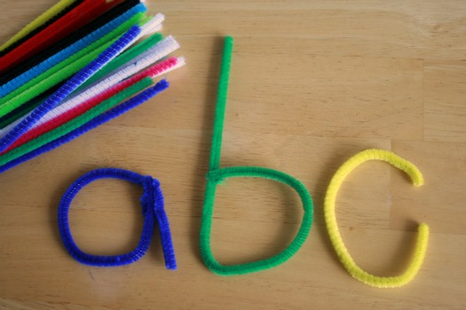 Pipe Cleaner Alphabet
