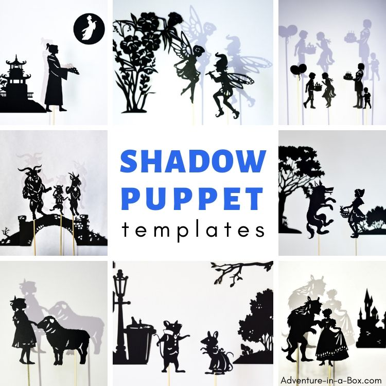 150+ shadow puppet templates to print and make!