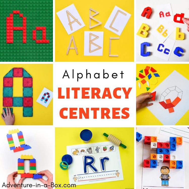 Set up a new literacy centre for kindergarten every two weeks with our selection of alphabet learning activities and printables!