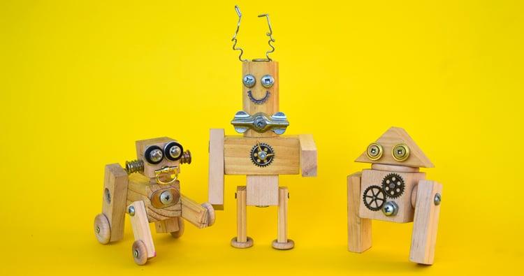 DIY Steampunk Wooden Robots