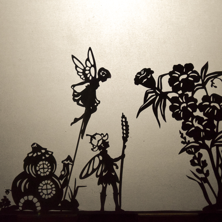 Fairy puppets: experimenting with light and the scale of shadows