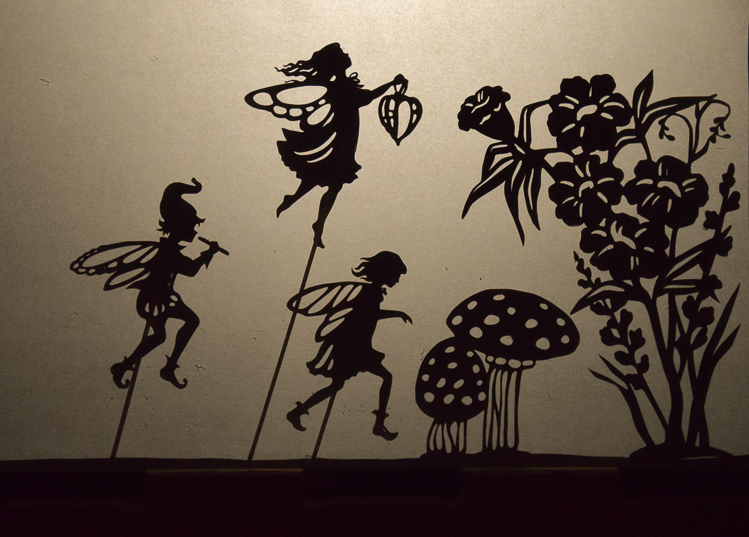 Fairy puppets: shadow puppet play