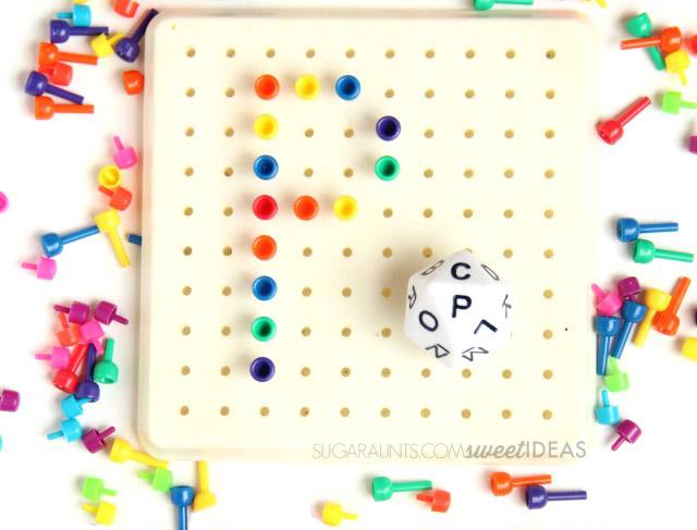 Alphabet on a Peg Board