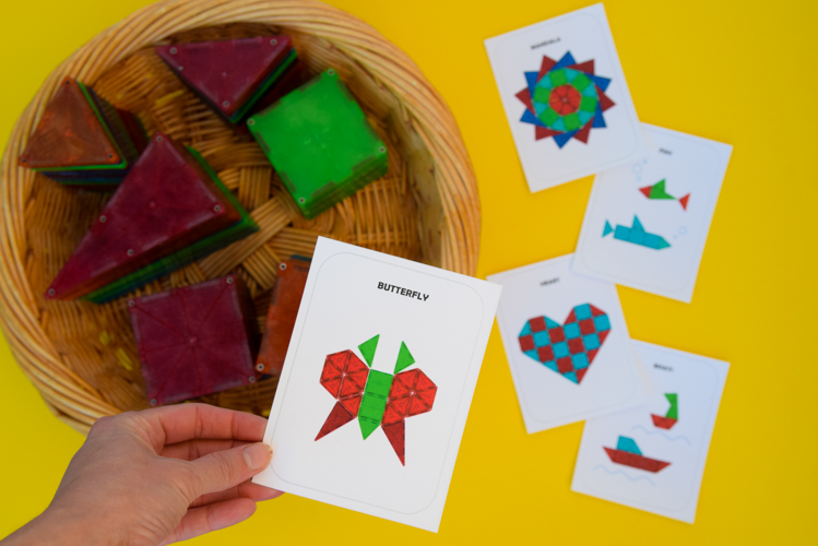 Magna Tiles 2D design cards
