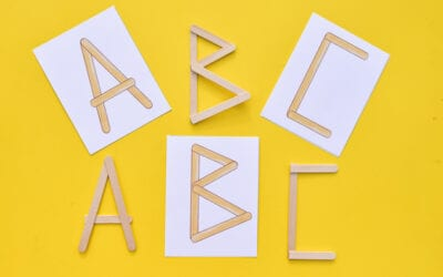 Popsicle Stick Letters
