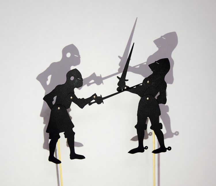 Two knight puppets