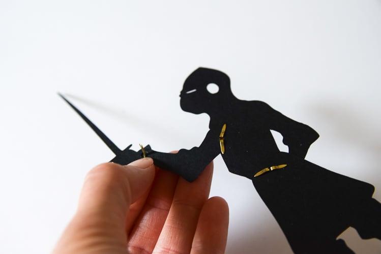 Assembling the puppet