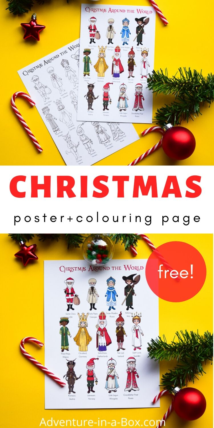 Christmas Around the World: Colouring Pages and Posters