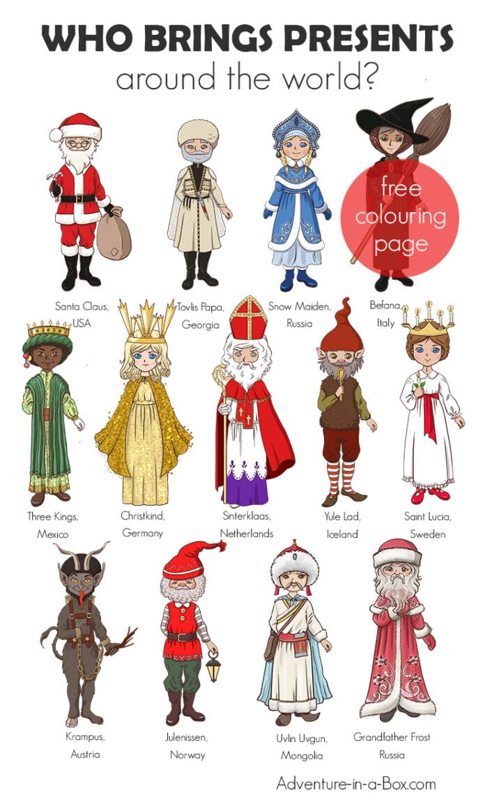Who Brings Presents Around the World? 13 Christmas Characters!