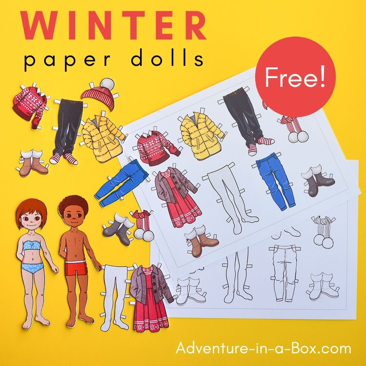 Paper Dolls with Winter Clothes