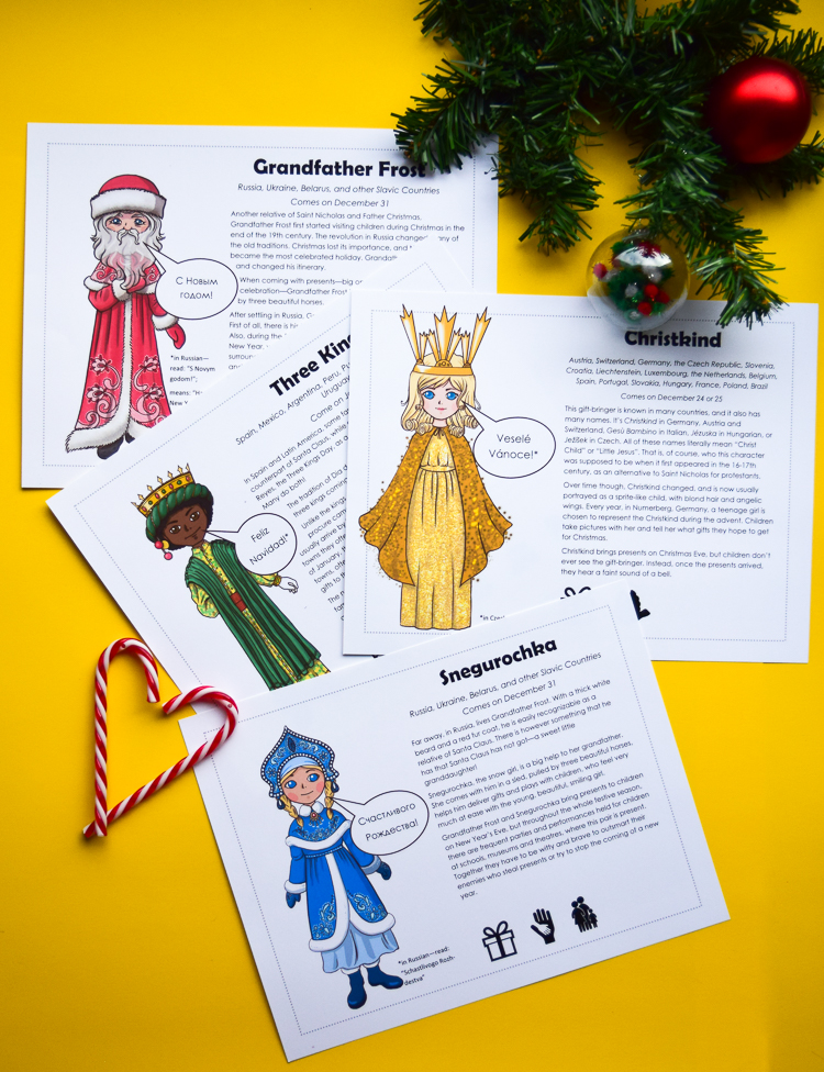 Christmas Guess Who Game also comes with twenty posters of Christmas characters