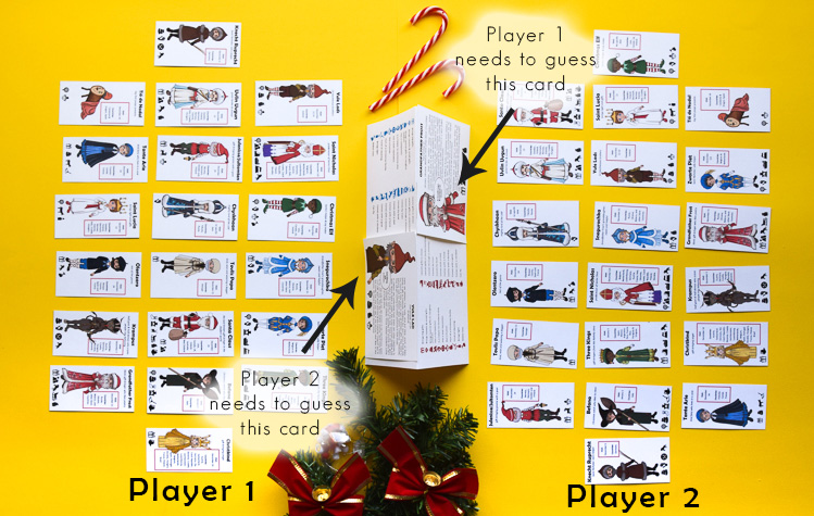 Christmas Guess Who Game setup