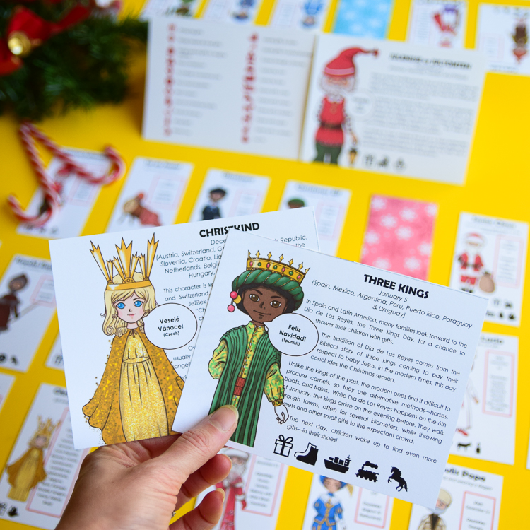 Christkind and Three Kings are some of the Christmas characters represented in the game