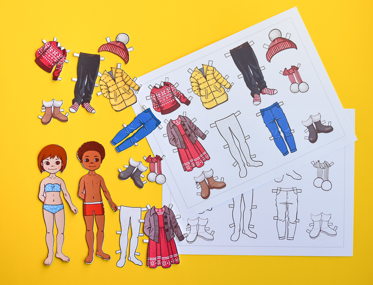 Free printable templates for making paper dolls
