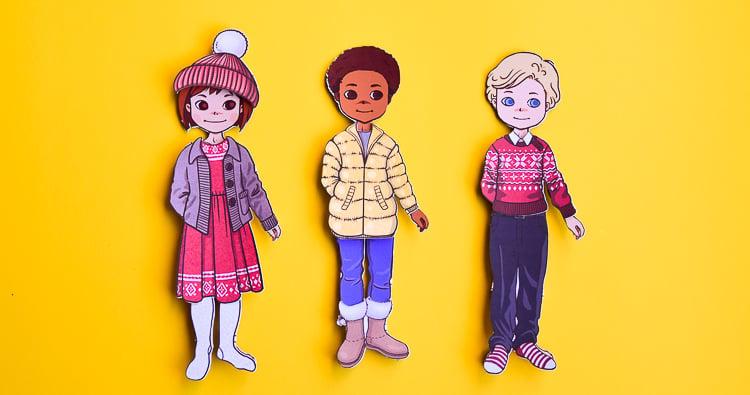 Free Printable Winter Paper Dolls