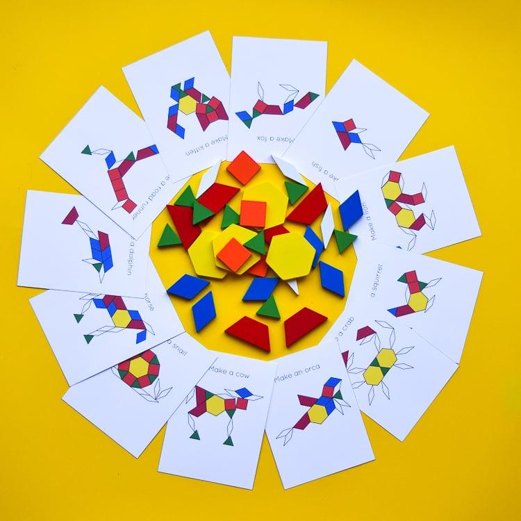 Animal pattern block cards