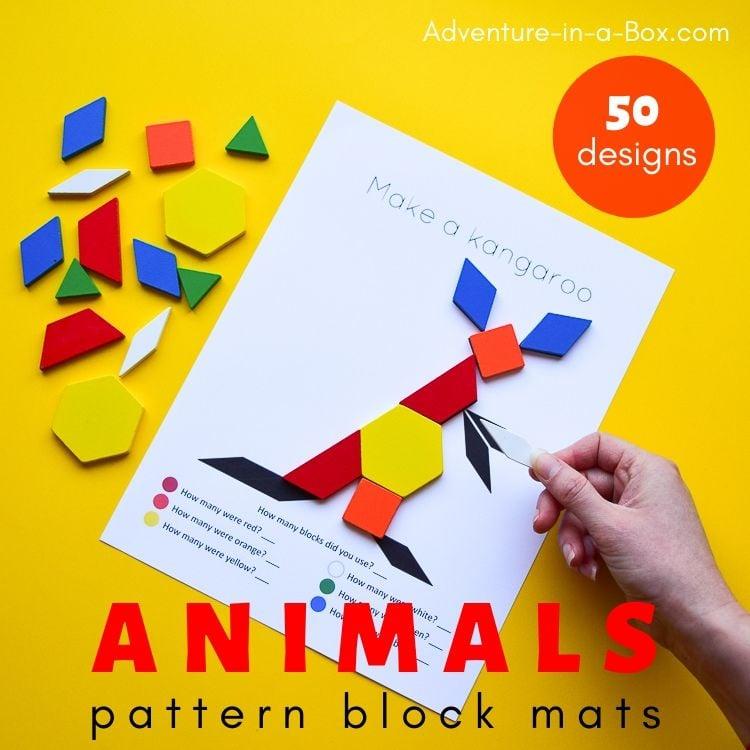 Animal pattern block mats