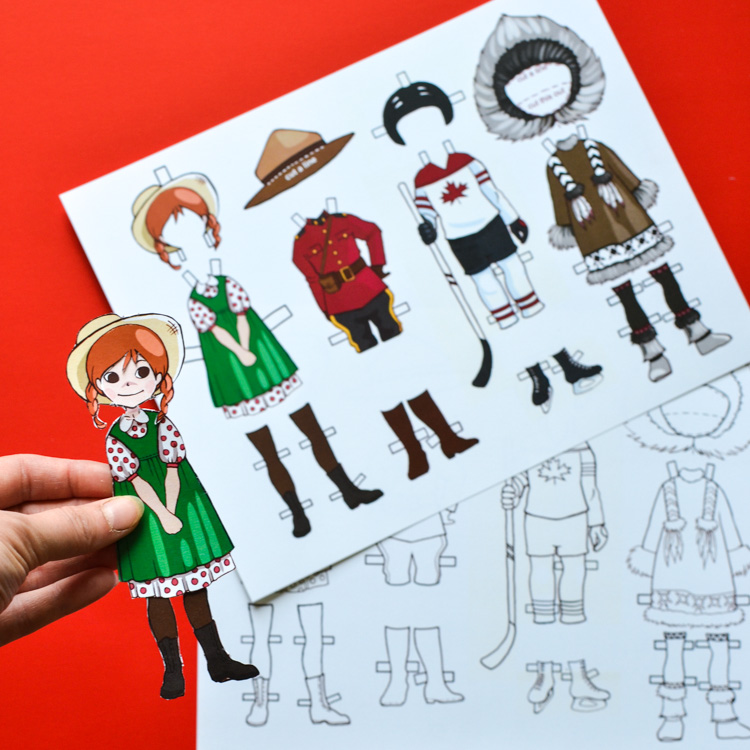 Canadian Paper Dolls