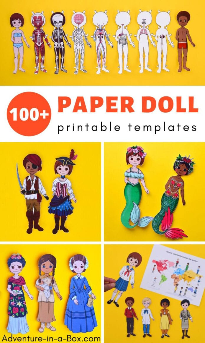 100+ Printable Paper Doll Templates