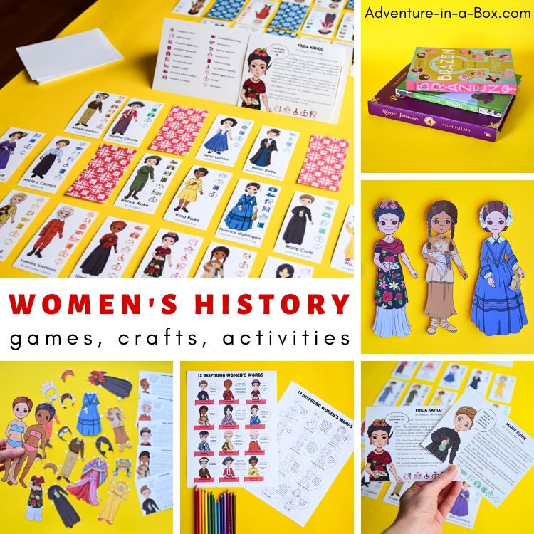 Famous Women in History for Kids: Games, crafts and activities