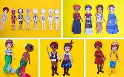 100+ Printable Paper Dolls