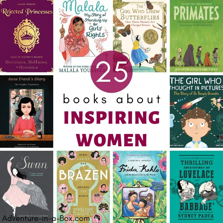 25 books about inspiring women for kids