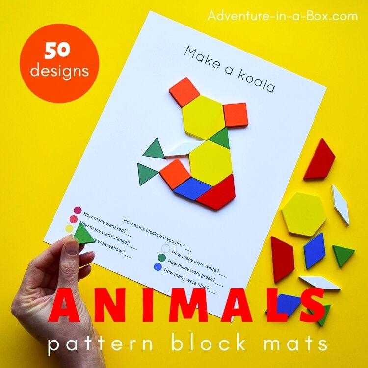 Pattern block koala