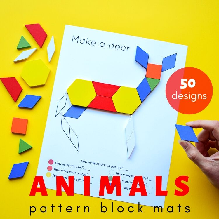 Pattern block deer
