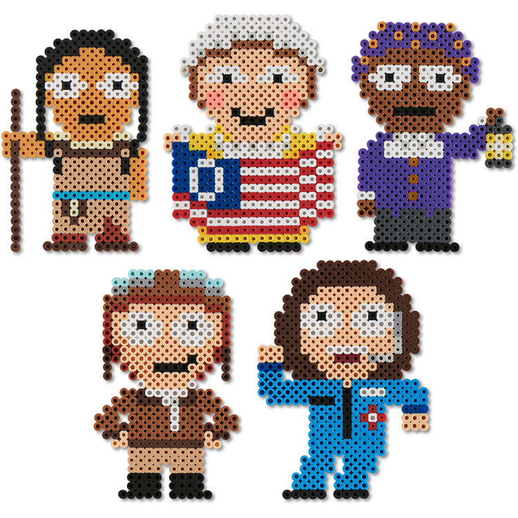 Famous women from perler beads