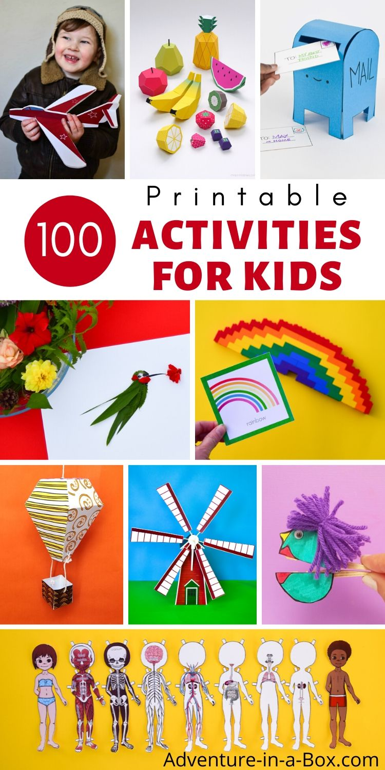 100 Printable Activities for Kids