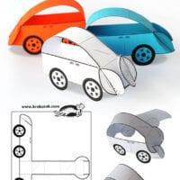 Glue-less car templates