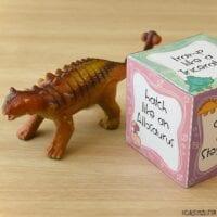 Gross Motor Dinosaur Action Cube