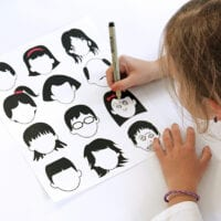 Blank Faces Drawing Page