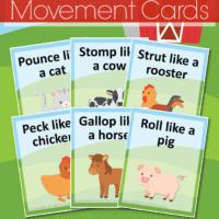 Farm Animal Movement Cards