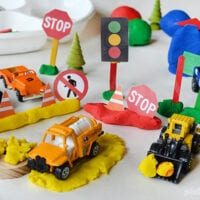 City Play Dough with Free Printable Accessories